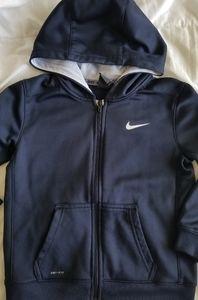 Nike dark blue hooded zip up